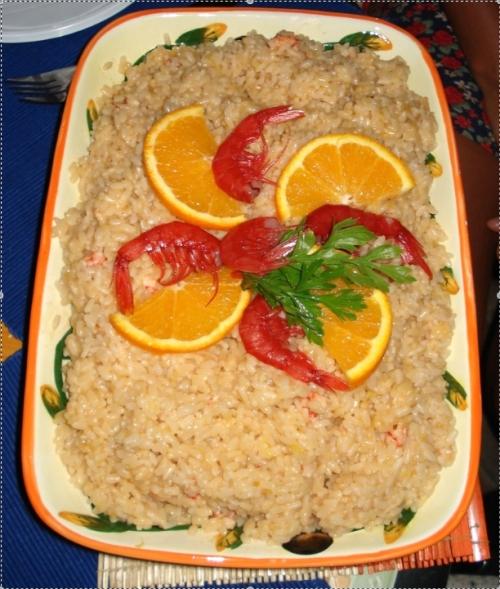 Risotto arance e gamberi - michelinastreghina